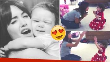 El tierno video de Lali Espósito cantando y bailando con Olivia Alfonso (Fotos: Instagram y Captura)