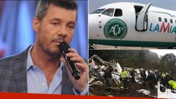 El mensaje de Marcelo  Tinelli tras estrellarse el avión de Chapecoense (Foto: web)