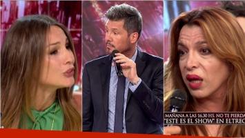 El enojo de Pampita en el vivo de ShowMatch con Tinelli: