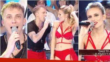 El Polaco presentó un nuevo tema junto a Agapornis en ShowMatch (Fotos: Captura)