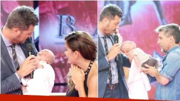 Marcelo Tinelli fue elegido nuevamente como el padrino del hijo de Lourdes Sánchez y Chato Prada (Fotos: Prensa Ideas del Sur)