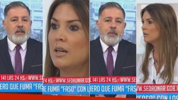 Fuerte cruce en vivo de Fabián Doman con Úrsula Vargues (Foto: web)