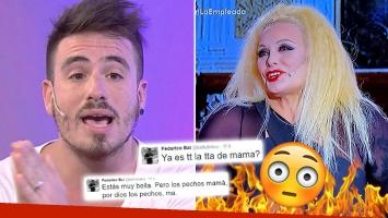 Carmen Barbieri usó un jugado look en lo de Susana ¡y Fede salió a rogarle por Twitter!
