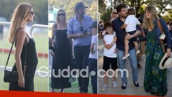 ¡Pancitas de embarazo al sol! Lara Bernasconi, Guido Kaczka y su mujer, tarde de polo en familia