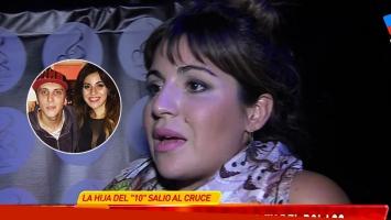 Gianinna Maradona habló del tema que le compuso El Polaco. Fotos: Web y Capturas TV.