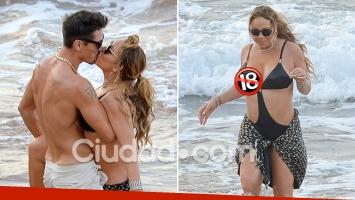 Mariah Carey, apasionada en el mar con un musculoso bailarín 13 años menor… y un blooper hot en pleno chapuzón
