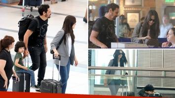 Natalia Oreiro viajó con Ricardo Mollo y Atahualpa a Rusia para hacer una gira muscial. (Foto: Movilpress - Ciudad.com)