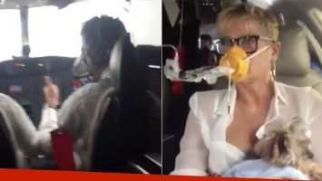 Xuxa y un susto en su avión privado.