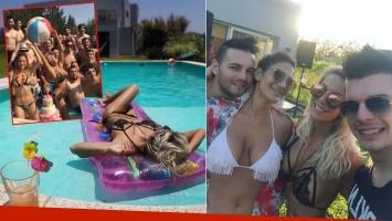 Noelia Marzol festejó su cumpleaños con una pool party: chapuzones, sol y lomazos