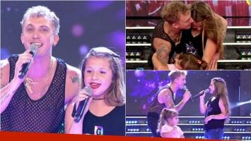 El Polaco y su hija Sol emocionaron al cantar juntos en ShowMatch. Foto: Captura