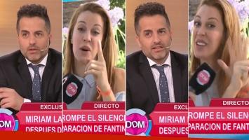 Ángel de Brito y Miriam Lanzoni, picantes chicanas en vivo