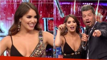 El escotadísimo vestido de Lali Espósito en su debut como jurado del Bailando. Foto: Captura
