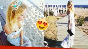 El look de Nicole Neumann para el casamiento de Sofía Zámolo (Fotos: Instagram)