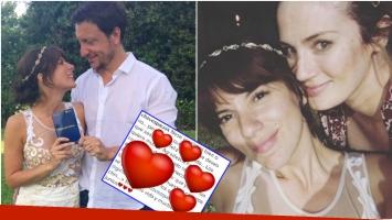 El tierno mensaje de Paula Chaves a Gimena Accardi tras su casamiento con Nico Vázquez (Fotos: Instagram)