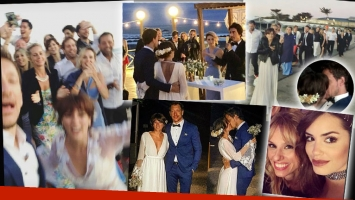 La boda en la playa de Nico Vázquez y Gimena Accardi
