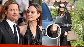 Angelina Jolie y su foto sin anillo, luego de su separación de Brad Pitt.