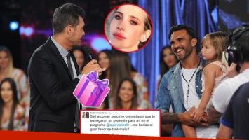 Cubero le entregó un pícaro regalo a Tinelli para Guillermina