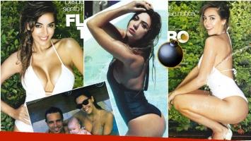 La producción súper sexy de Floppy Tesouro, a dos meses del nacimiento de su primera hija Moorea (Fotos: revista Gente)