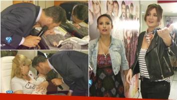 Marcelo Tinelli visitó a los hijos de Paula Chaves y Lourdes Sánchez en ShowMatch