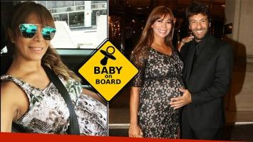 Ximena Capristo encendió la polémica con su foto de 8 meses de embarazo y la imposibilidad de abrocharse el cinturón en su auto. Foto: Instagram.