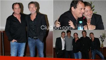 Adrián Suar y Julio Chávez presentaron en Telenoche Un rato con él, la obra que protagonizarán juntos. Foto: Captura
