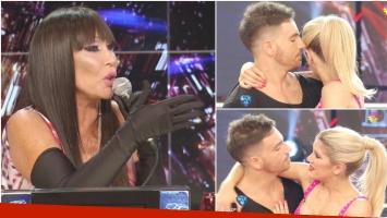 La incómoda pregunta de Moria Casán a Fede Bal y Laurita Fernández en la semifinal de Bailando 2016 (Fotos: Captura)