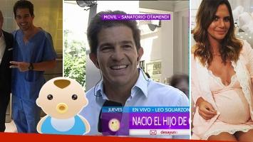 Leonardo Squarzon contó cómo vivió el nacimiento de Roque junto a Amalia Granata