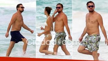 Leonardo DiCaprio camina junto a una misteriosa amiga en Cancún, mientras su novia trabajaba en una campaña.