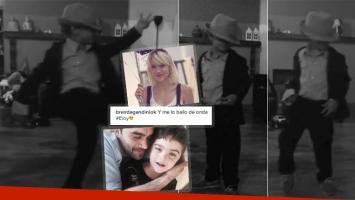 El video del hijo de Gandini y Heredia bailando como Michael Jackson (Foto: Instagram)