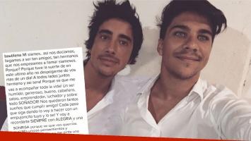 La emotiva carta de Bautista Lena a Santiago Vázquez (Foto: Instagram)