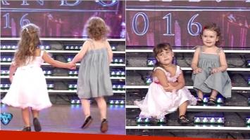 El momento más tierno de la final de Bailando 2016 con las hijas de Pedro Alfonso y El Polaco. Foto: Captura