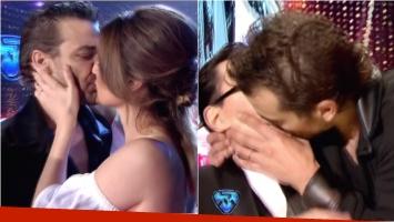Los besos de Pedro Alfonso a Paula Chaves y Marcelo Polino en la final de ShowMatch. Foto: Captura