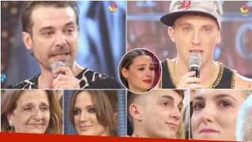 El emotivo saludos de los familiares de los finalistas de Bailando 2016 (Fotos: Captura)