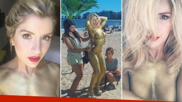 Laurita Fernández calienta el verano con su infartante body painting. (Foto: Instagram)