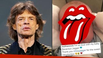 ¡Presentación oficial! Conocé la carita del octavo hijo de Mick Jagger… ¡y su triple nombre!