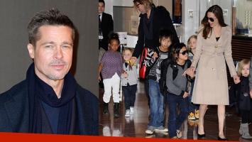 Brad Pitt la acusó a Angelina Jolie de poner en riesgo la privacidad de sus hijos. Foto: AFP.