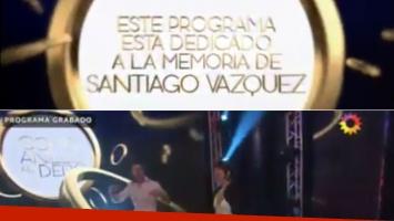 Como anillo al dedo, dedicado a Santi Vázquez.