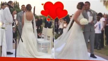 El video del casamiento de Carlitos Tevez y Vanesa Mansilla en Carmelo (Fotos: Captura)