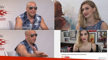 Vin Diesel incomodó a Carol Moreira que luego hizo un fuerte descargo. (Fotos: Capturas YouTube)