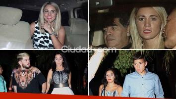 La Navidad del Diez: Maradona celebró la Nochebuena junto a Diego Junior, Jana y Rocio Oliva