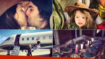 Wanda y Zaira Nara festejaron Navidad en familia en la Patagonia. (Fotos: Instagram)