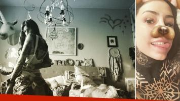Candelaria Tinelli mostró la intimidad de su habitación. (Foto: Instagram)