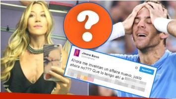 El divertido tweet de Jimena Barón tras ser vinculada sentimentalmente con Juan Martín del Potro (Fotos: Web)