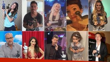 Arriba: Pampita, ganadora también del Oro; Fede Bal; Susana; Griselda Siciliani y Mery del Cerro. Abajo: Rial, Lali, Tinelli, Olivia Alfonso y Suar.