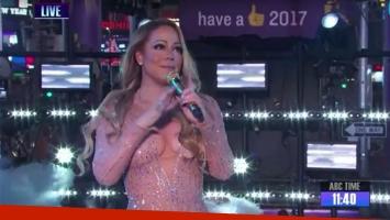 Mariah Carey hizo un papelón ante más de 2 millones de espectadores en vivo.