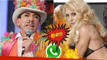 El polémico audio que Aníbal Pachano le mandó a Andrea Ghidone. Foto: Captura