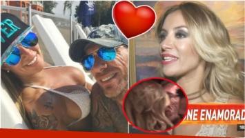 Claudia Ciardone y su novio novio, a los besos (Fotos: Instagram y Captura)