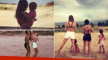 Marcela Kloosterboer y Agustina Cherri, días a puro relax con sus hijos en la playa (Foto: Instagram)