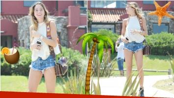 El look playero de Lucía Celasco en Punta del Este (Fotos: GM Press)