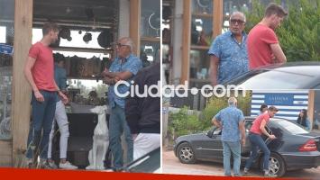El Negro González Oro, de vacaciones con su novio en Punta del Este (Fotos: GM Press)